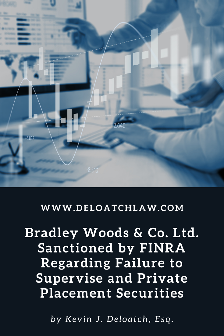 Bradley Woods & Co. Ltd. Sanctioned by FINRA Regarding Failure to Supervise and Private Placement Securities (1)